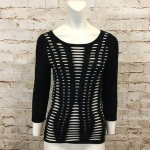Express   Ripped Pattern Sweater Lined Medium